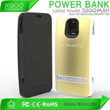 mobile charge back cover for samsung galaxy s5 plastic battery case