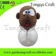 Cabeça grama boneca artesanato para crianças