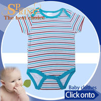 brand Best price cotton print thailand manufacturing baby clothing BB070