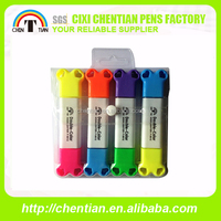 [cixi chentian factory]2014 Hot Sale Top Quality Best Price plastic two side highlighter pen