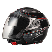 2015 Motor abs helmets Motorcyclehalf face double visor motorcycle helmet JX-OP02