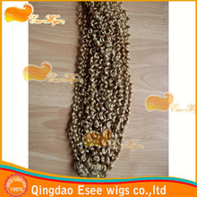 eseewigs qingdao factory wholesale 100% human hair syntetic extensions
