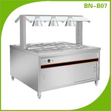 Stainless steel equipment food warmer display cabinet buffet food warmer