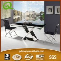 TH721 low price tempered glass top restaurant tables and chairs
