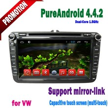 "2 din android car pc for vw volkswagen with 8"" Capacitive touch Screen BT ATV 1GB DDR3 Radio AUX IN mirror link"