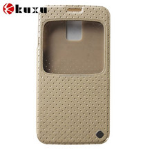 Lovely dot pattern PU and faux Microfiber flip case for iphone6