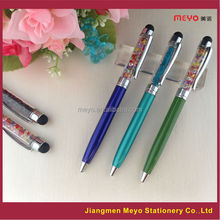 Promotional crystal pen set,promotion gift touch pen set, promtion crystal filled pens