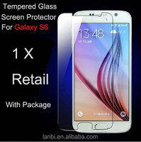 Anit-broken anti-scratch 9H tempered glass screen protectors for Samsung Galaxy S6 edge 0.3/0.4mm