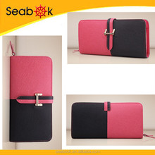 Women Long style Split Leather wallet for ladies 2015
