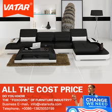 VATAR home furniture new style L shaped designs leather sofa