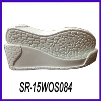 women white color pu shoe sole lady thick sole casual shoes pu sole