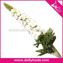 De china nuevo diseño popular blanco lupinus flor de la simulación venta al por mayor