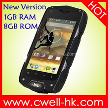 "Jeep Z6+ MTK6582 Quad Core ""Rugged Android cell phone 4 inch touch screen"