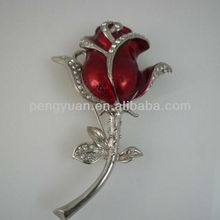 Red rose brooch usb flash memory sticks 1gb 2gb 4gb 8gb 16gb (Item:PY-U-231)