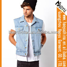 Venta al por mayor baratos chaqueta de diseño de chaquetas de los hombres, chaleco de mezclilla venta al por mayor ( hyj474)