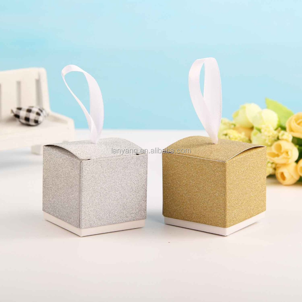 Yellow Honey Bee Diy Favour Box With Ribbons Gift Boxes