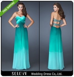 Hot Green Beaded Pleat Chiffon Evening Dress 2015 Wholesale