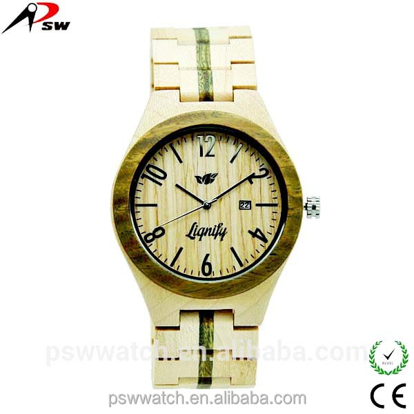 fresh Japan quartz wood bamboo watch