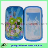 Customized design 2in1 printing PC+silicon mobile phone bags & cases for Samsung S3 mini I8190