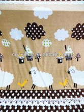 2013 alibaba top 10 Fleece Blanket 100% Polyester Fabric for aerated cushion