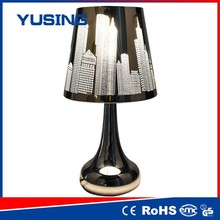 zhejiang atv 100-240v retro style stainless steel touch end table lamp combo