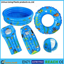 PVC inflatable swimming sets for kids,inflatable baby items,beach toys