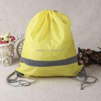 oem durable fashionable basket ball polyester drawstring bag