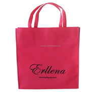 pink color promotion tote bag , non woven promotion tote bag , tote bag