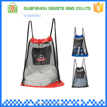 Wholesale large mesh drawstring basketball clear backpack