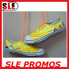 Wholesale High Quality Fashion Rubber Shoes Woman Canvas Shoes Painting Sneakers 2015