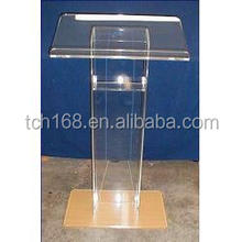 acrylic lectern/organic glass podium/lucite pulpit/ church rostrum stand