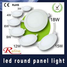 led panel light 3w 4w 6w 9w 12w 15w 18w varisized round led panel light