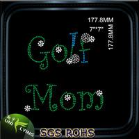 Golf Mom Women T-shirt Rhinestone Designs