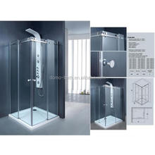 DOMO china factory shower stall, tempered glass shower room