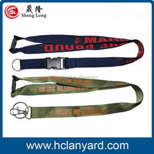 Top grade promotional hot nylon lanyard with silkscreen