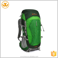 Green big capacity south korea cologne fabric camping rucksack removable backpack straps