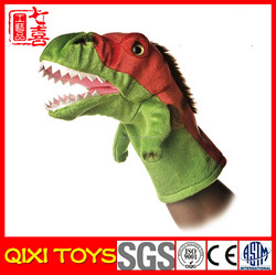 Cheap animals hand puppets plush dinosaur hand puppet