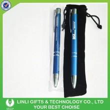 Velvet Bag Packing Blue Metal Ball Pen