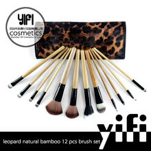 Yify cosmetics company 12pcs nature wood makeup brushes free samples