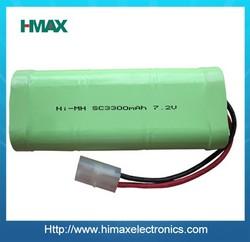 low selfdischarge Nickel Metal Hyoride battery nimh sc 1800mah 7.2V battery pack