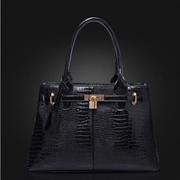 Ladies vanity bags stylish matching color pu leather handbags 2015