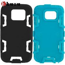 Black & Baby Blue Hybrid Defender Heavy Duty Shockproof Armor Hard Soft Case Cover for Samsung Galaxy S