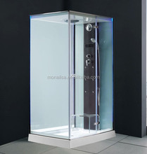 With Acrylic Tray enclose M-8292 Glass Door Showers