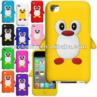 Lovely penguin cellular gel protective case for iphone5