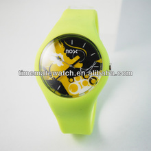 Swatch style Silicone Watches with High quality Offset Print dials ,Soft Silicone Wristband, factory sell directly