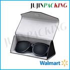 Couro de alta qualidade dobrável óculos caso