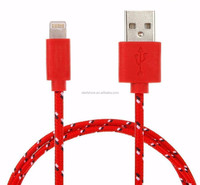 Mixcolor 10FT 1M,2M,3M USB Charger Cable Fabric Nylon Braided Nylon Usb Cable Cord for iPhone 5 5C 5S iOS7.1