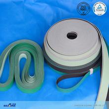2.5MM black/light green habasit quanlity high speed flat belt TC conveyor belt for textile machinery
