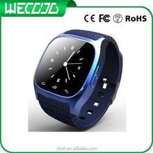 Bluetooth smart watch with clock watch/ pedometer/alarm/ fm radio MP3