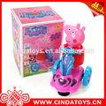 nueva rosa de dibujos animados de cerdo eléctrica del coche de plástico peppa pig juguetes